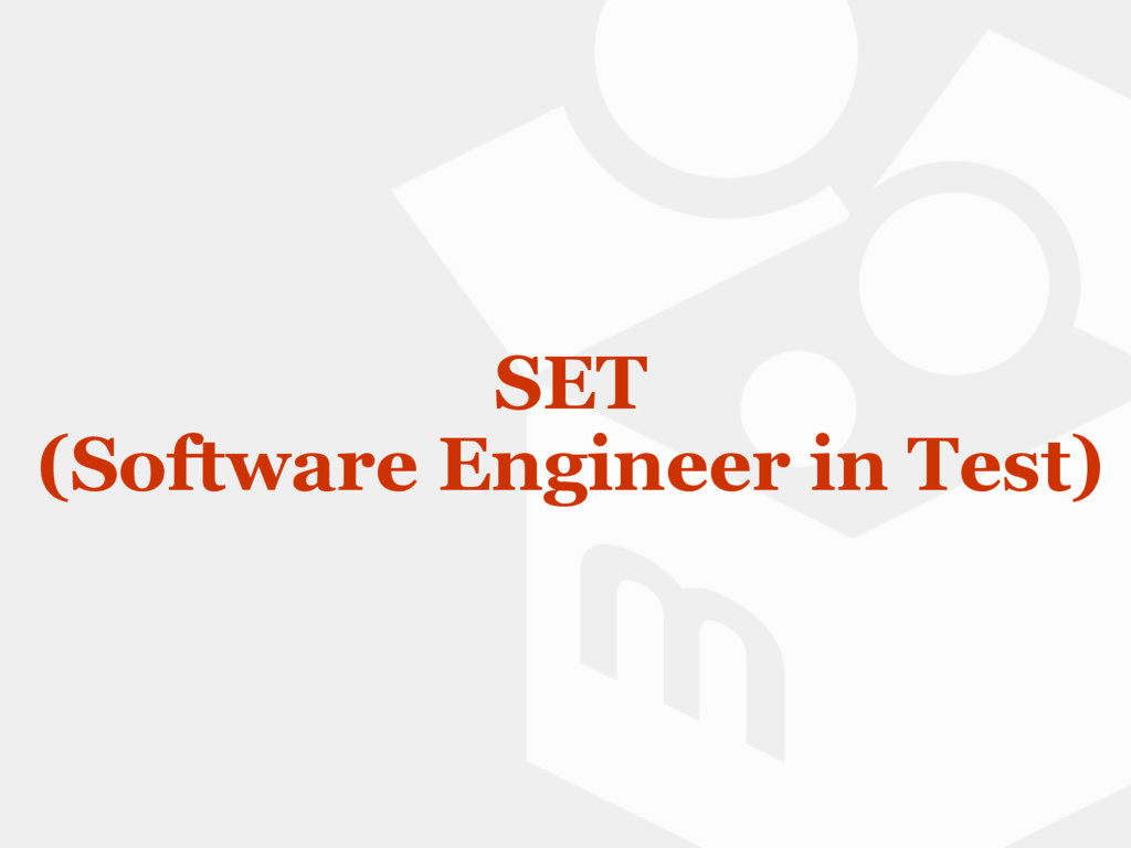 SET (Software Engineer in Test)