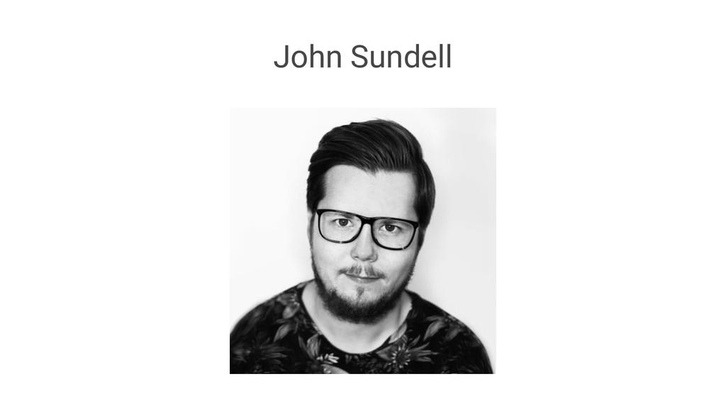 John Sundell