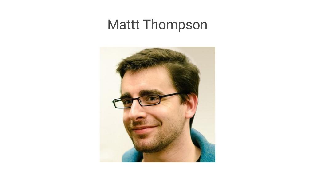 Mattt Thompson