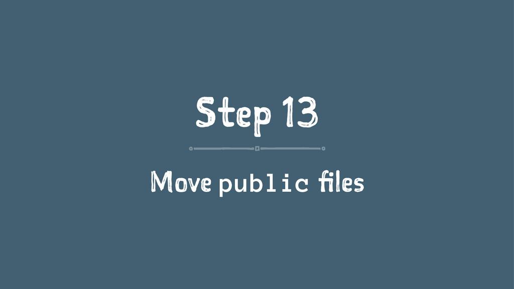 Step 13 Move public files