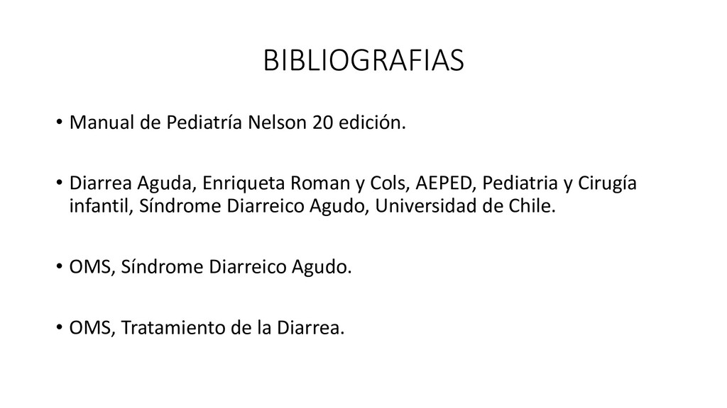 BIBLIOGRAFIAS • Manual de Pediatría Nelson 20 e...
