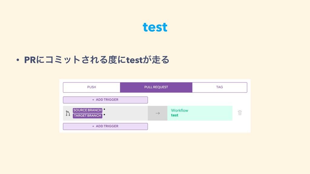 test • PRʹίϛοτ͞ΕΔʹtest͕Δ