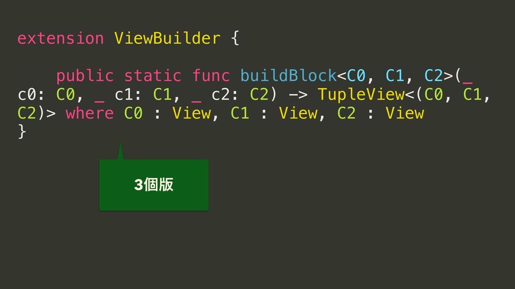 extension ViewBuilder { public static func buil...
