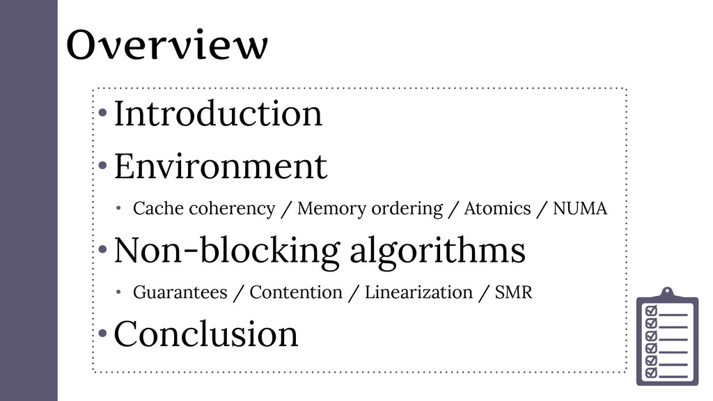 Overview • Introduction • Environment • Cache c...