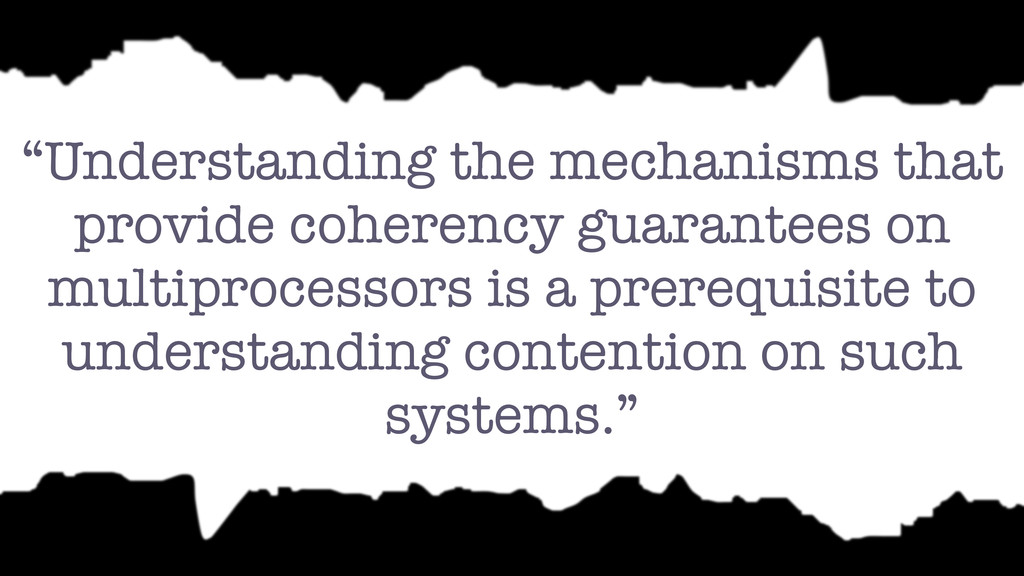 """""""Understanding the mechanisms that provide cohe..."""