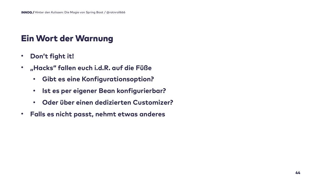 """Ein Wort der Warnung 44 • Don't fight it! • """"Ha..."""