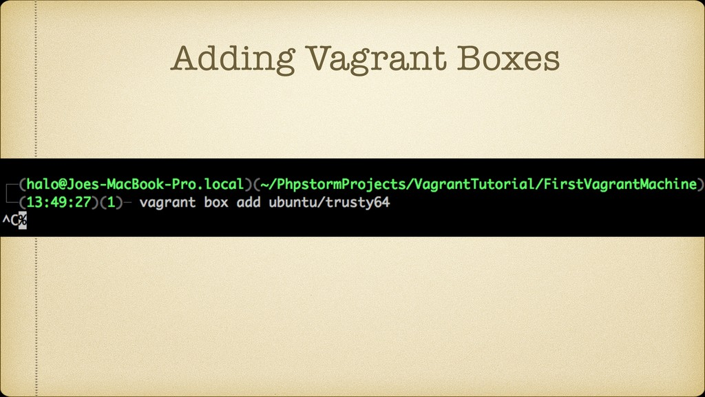 Adding Vagrant Boxes