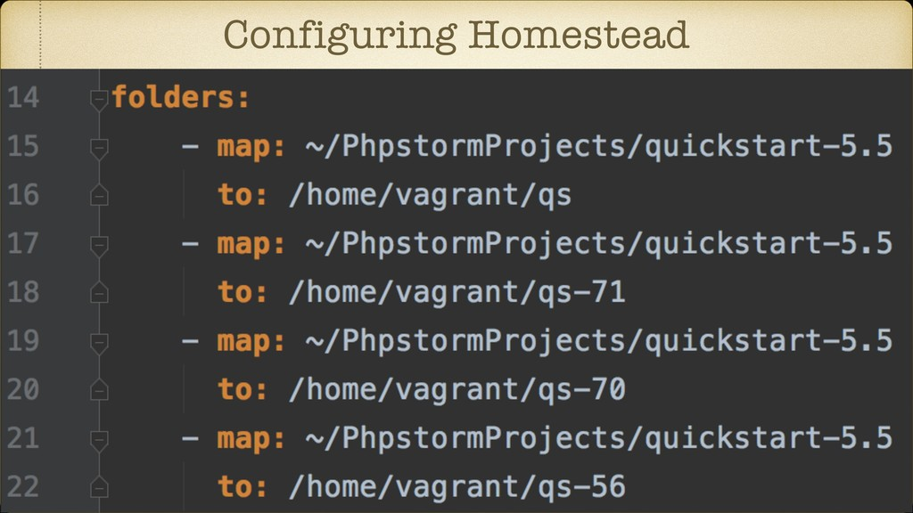 Configuring Homestead