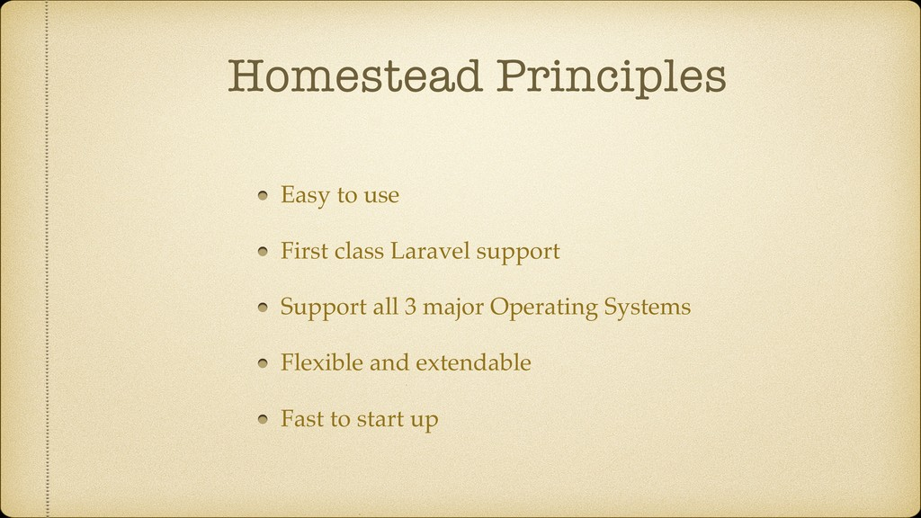 Homestead Principles Easy to use First class La...