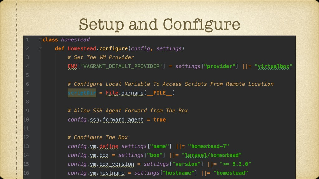 Setup and Configure