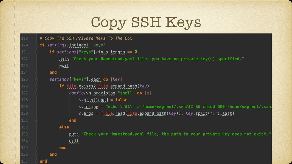 Copy SSH Keys