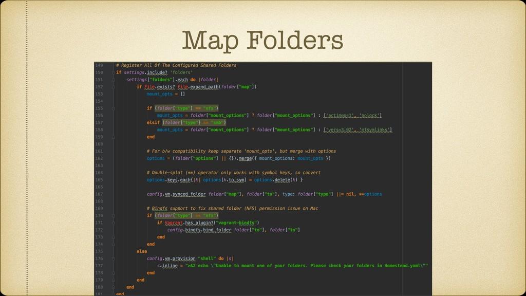 Map Folders