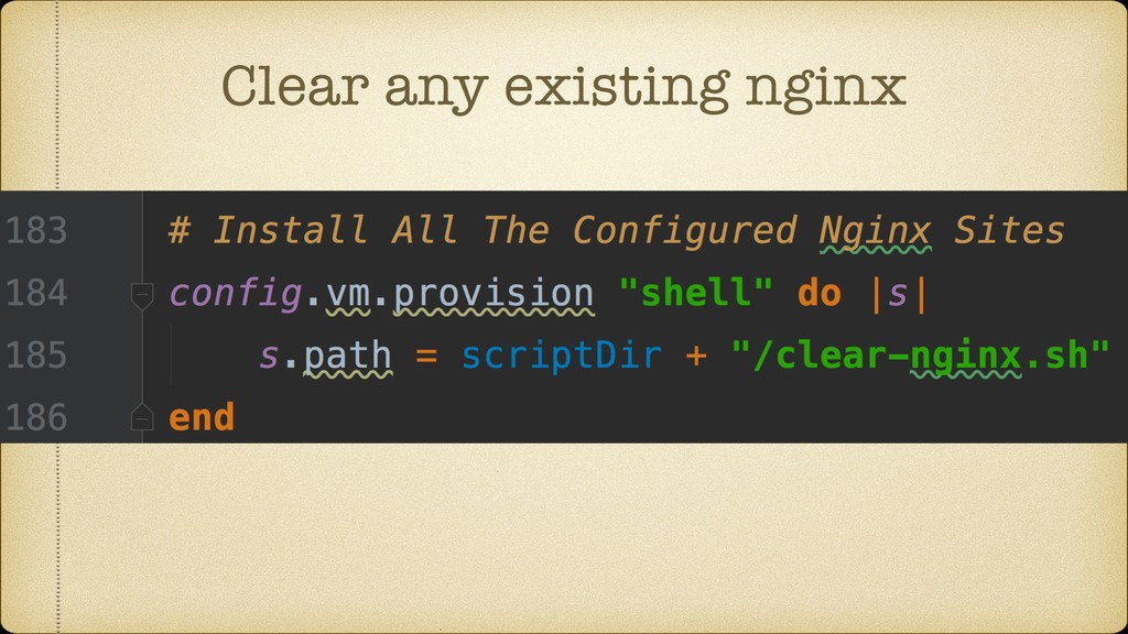 Clear any existing nginx