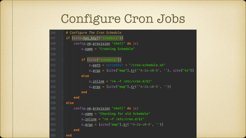Configure Cron Jobs