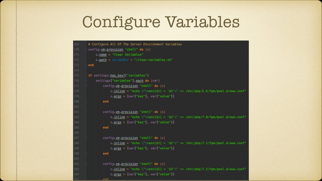 Configure Variables