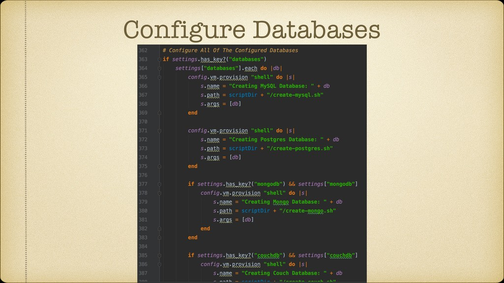 Configure Databases