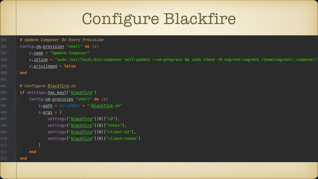 Configure Blackfire