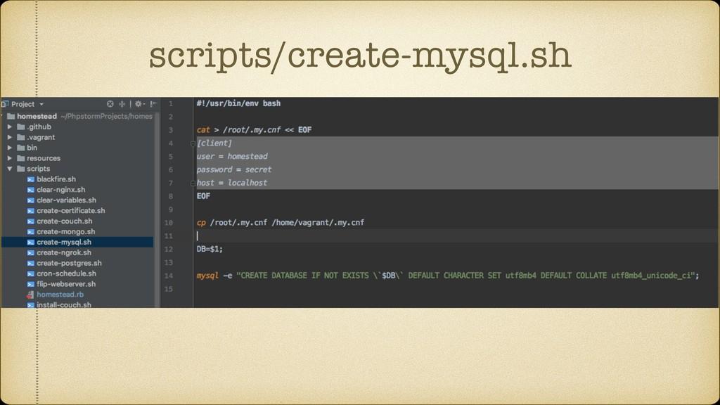 scripts/create-mysql.sh