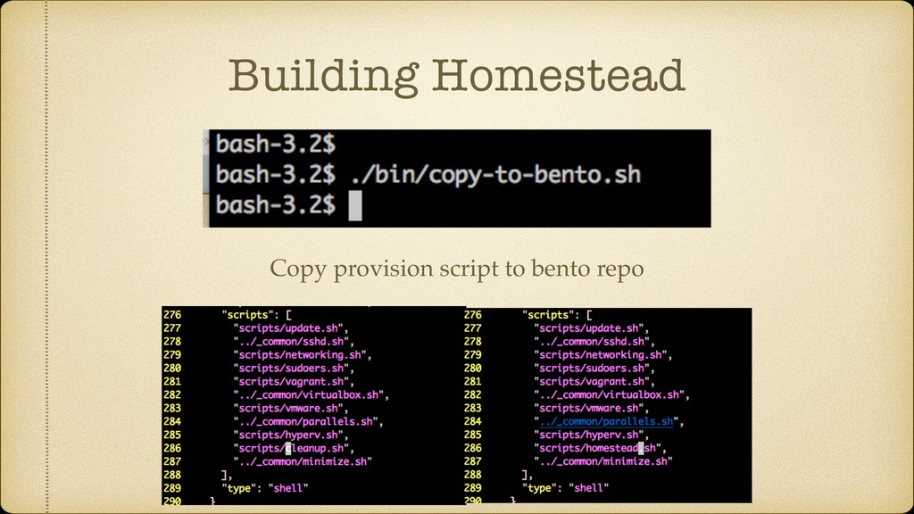 Building Homestead Copy provision script to ben...