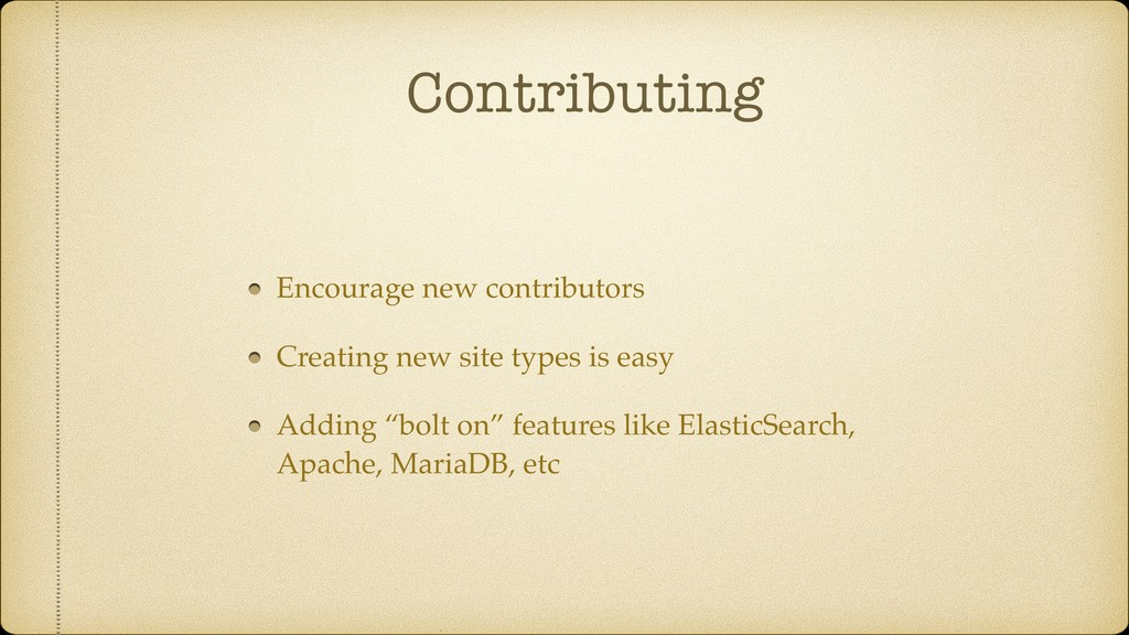 Contributing Encourage new contributors Creatin...