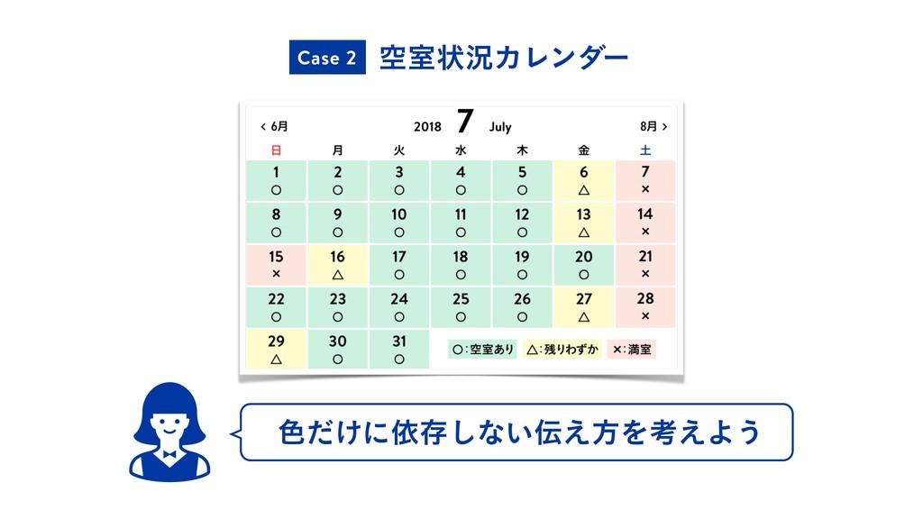 ۭࣨঢ়گΧϨϯμʔ Case 2 ৭͚ͩʹґଘ͠ͳ͍͑ํΛߟ͑Α͏