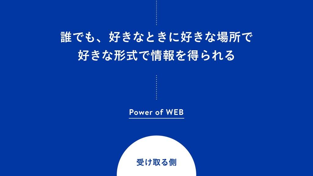 ୭Ͱɺ͖ͳͱ͖ʹ͖ͳॴͰ ͖ͳܗࣜͰใΛಘΒΕΔ Power of WEB ड͚...