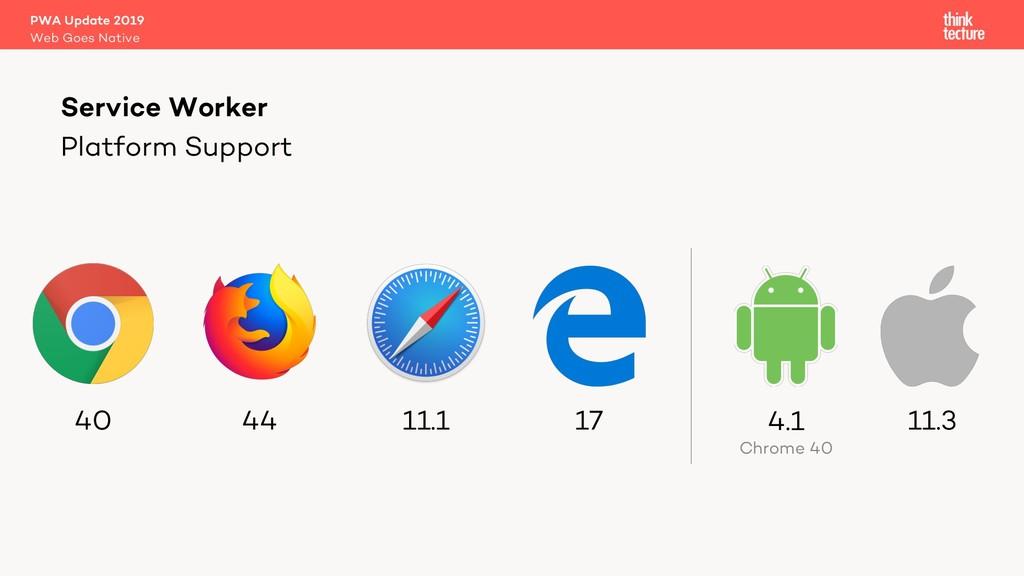 Platform Support Service Worker Web Goes Native...