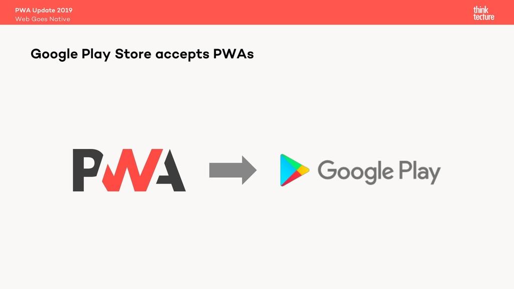 PWA Update 2019 Web Goes Native Google Play Sto...
