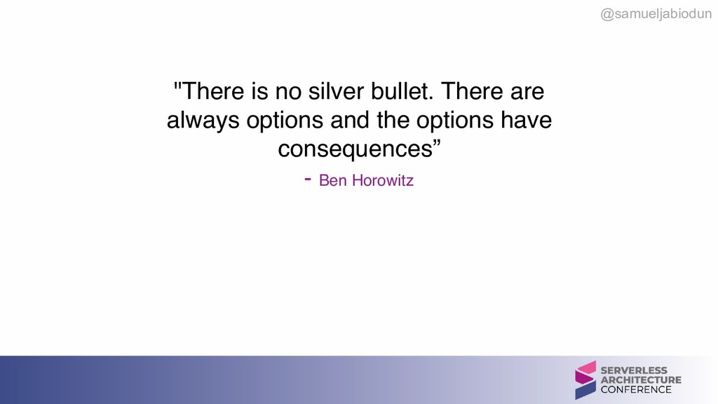 """@samueljabiodun """"There is no silver bullet. The..."""