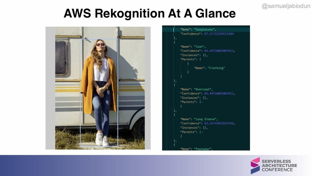 @samueljabiodun AWS Rekognition At A Glance