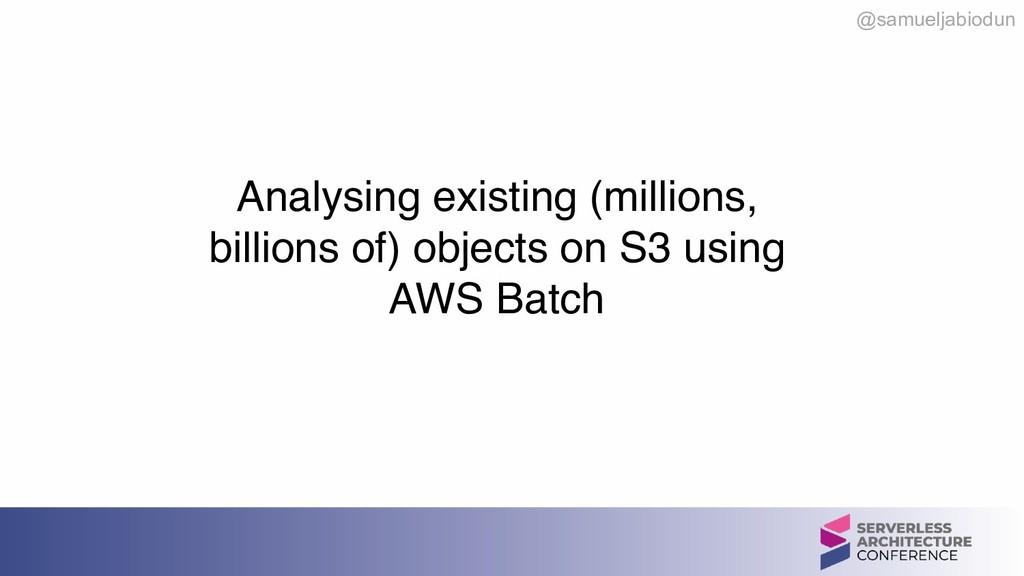 @samueljabiodun  Analysing existing (millions,...