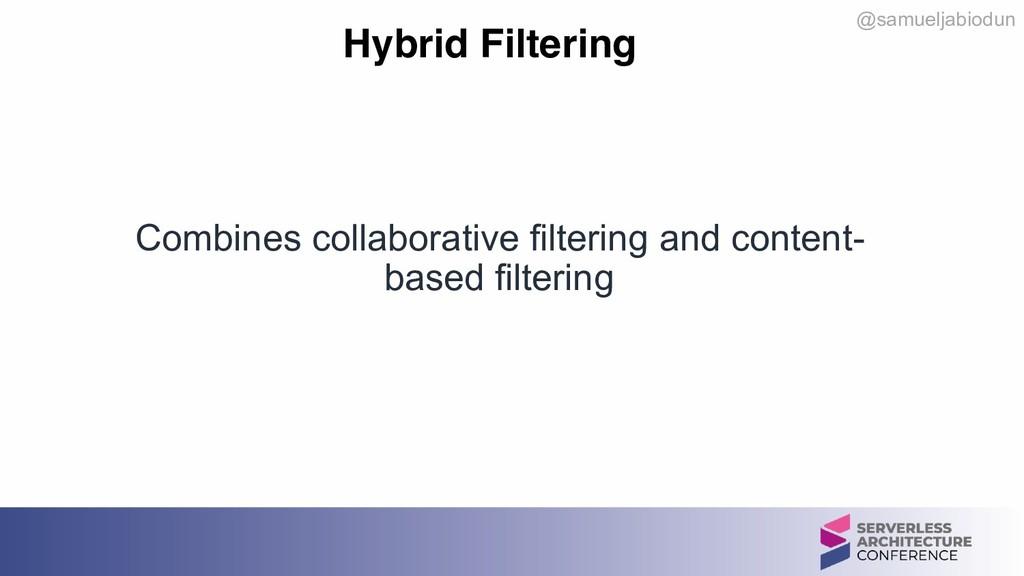 @samueljabiodun Hybrid Filtering Combines colla...