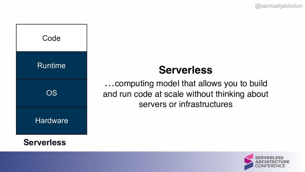 @samueljabiodun Code Runtime OS Hardware Server...