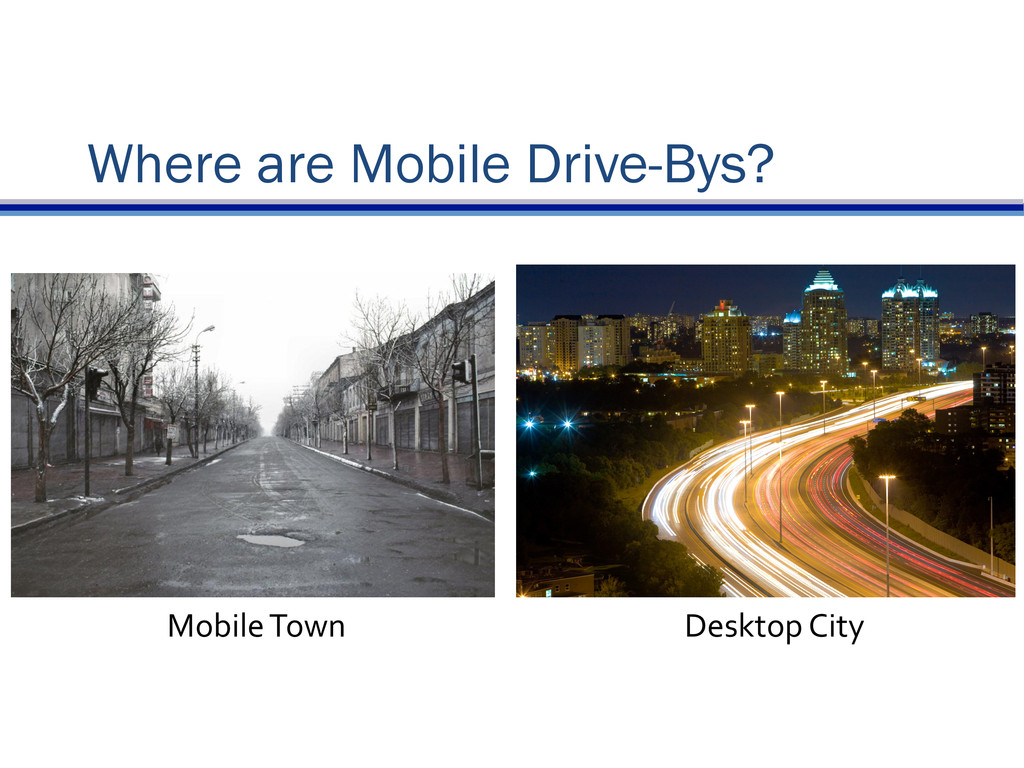 Where are Mobile Drive-Bys? Mobile	