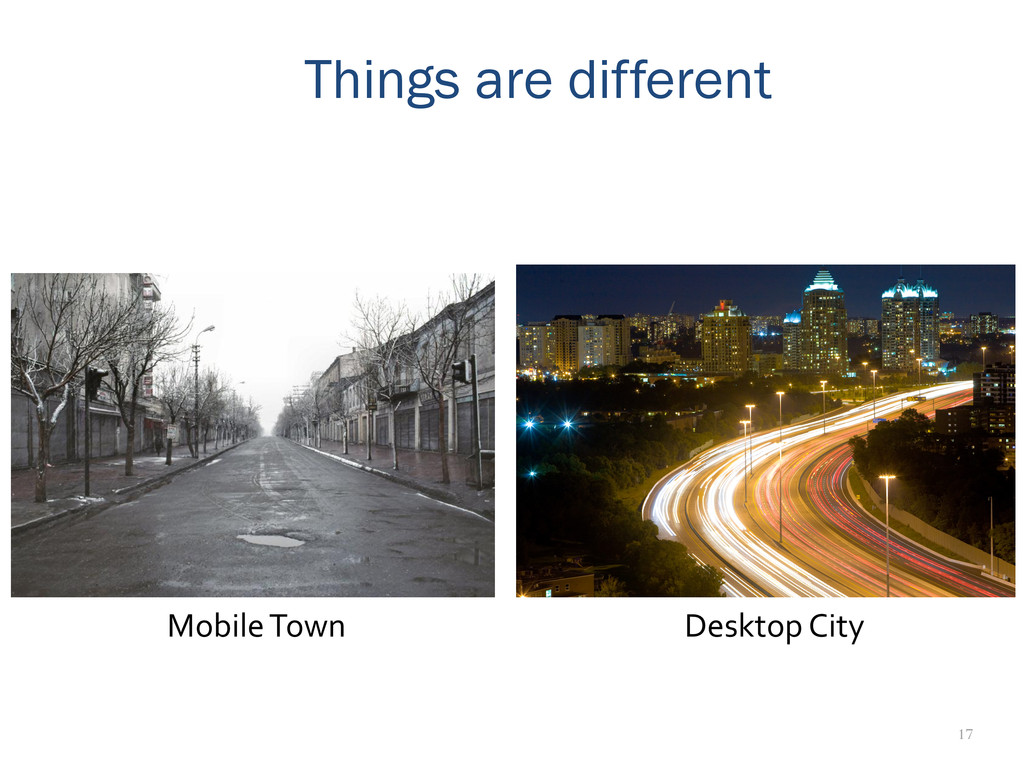 17 Things are different Mobile Town  Desk...