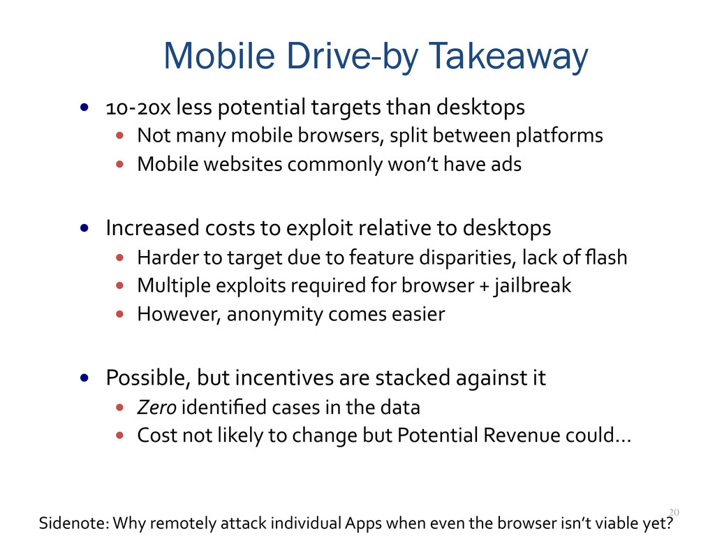 20 Mobile Drive-by Takeaway — 10-‐20x les...