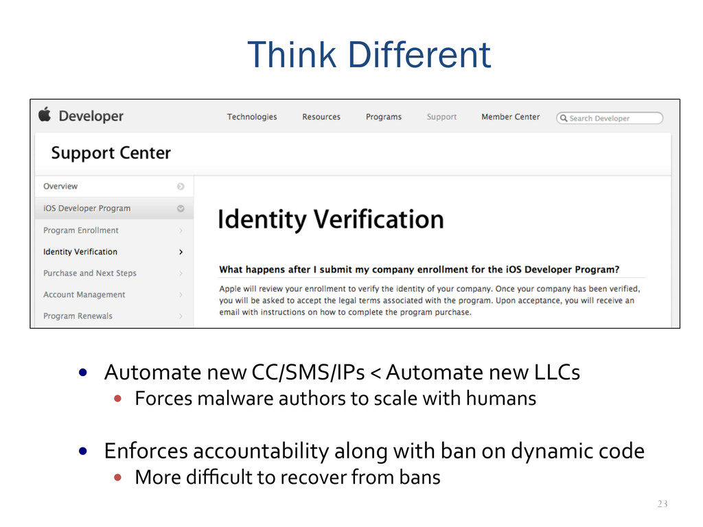 23 Think Different — Automate new CC/SM...