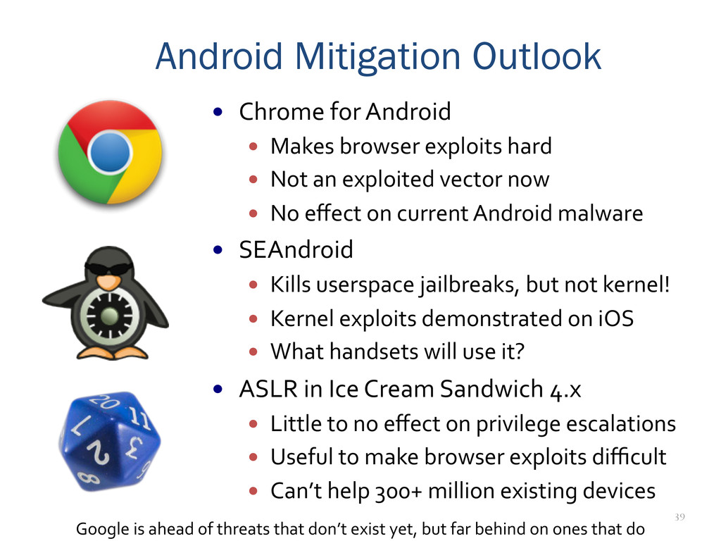39 Android Mitigation Outlook —  Chrome	