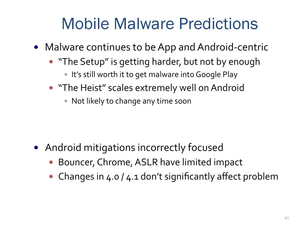 40 Mobile Malware Predictions — Malware co...