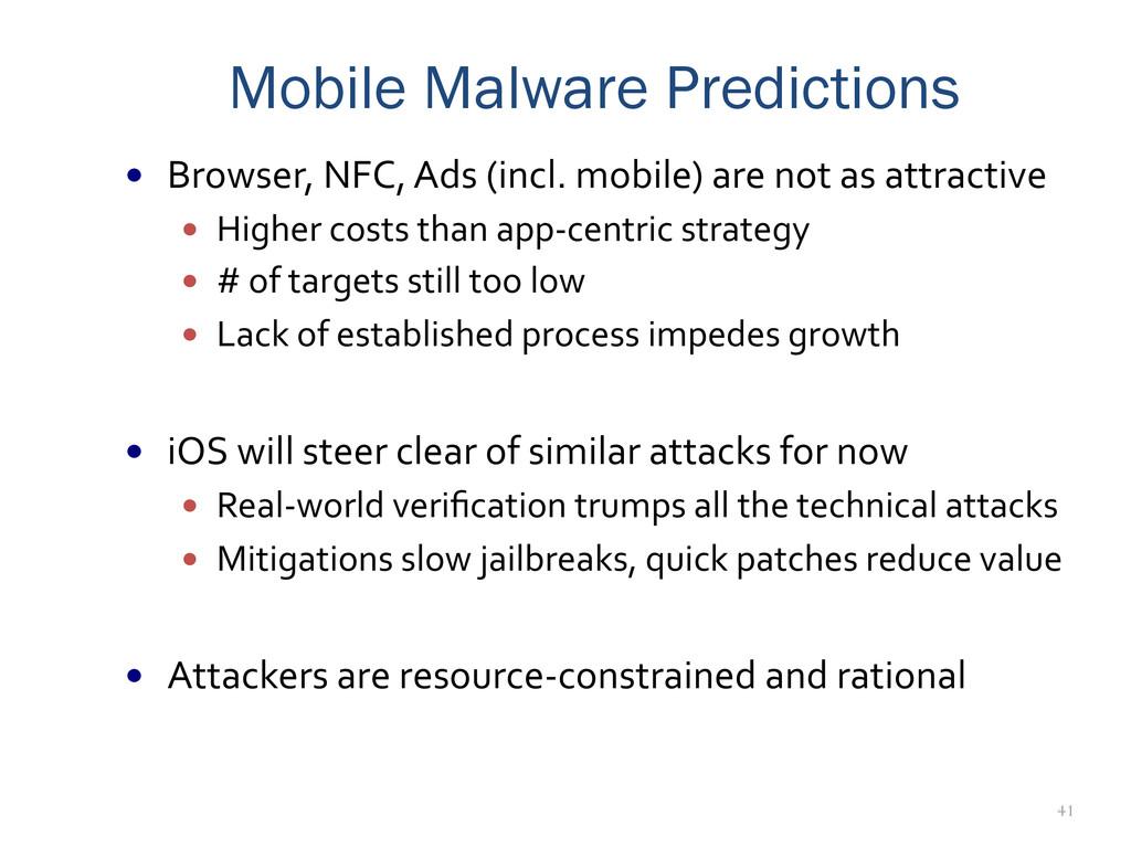 41 Mobile Malware Predictions — Browser, N...
