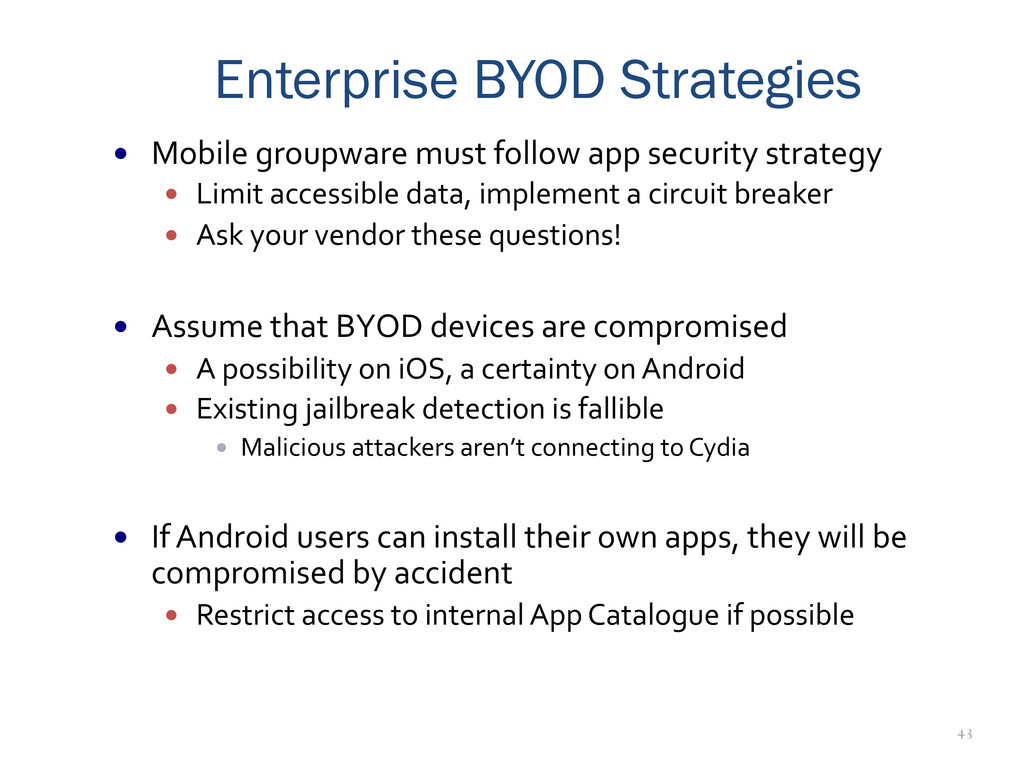 43 Enterprise BYOD Strategies — Mobile gro...