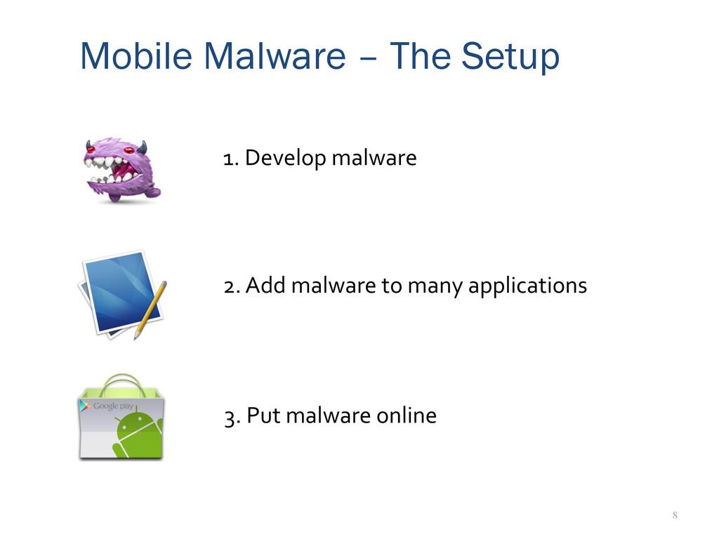 8 Mobile Malware – The Setup 2. Add malwa...