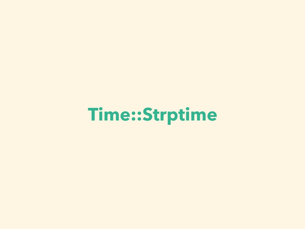 Time::Strptime