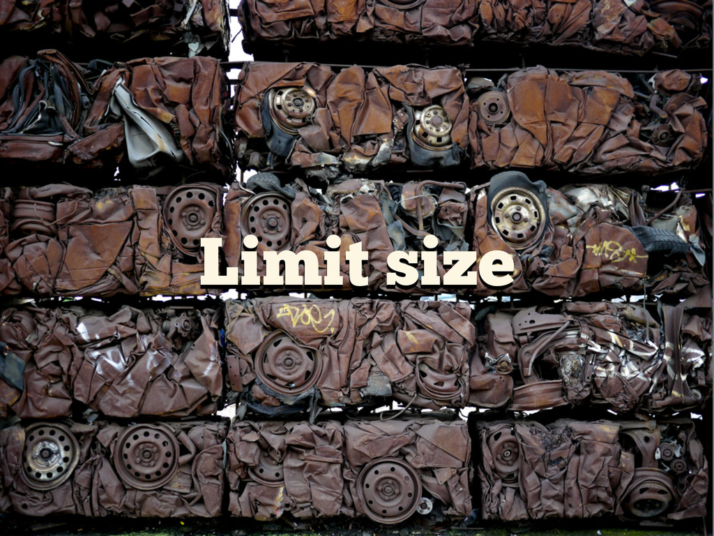 Limit size