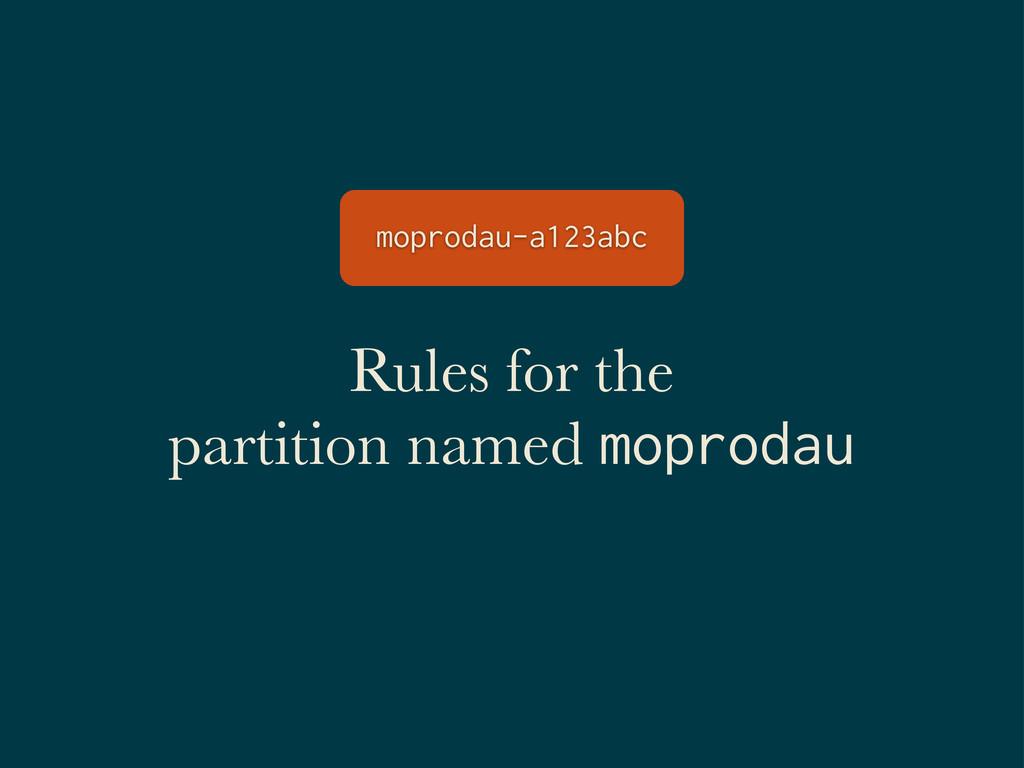 Rules for the partition named moprodau moprodau...