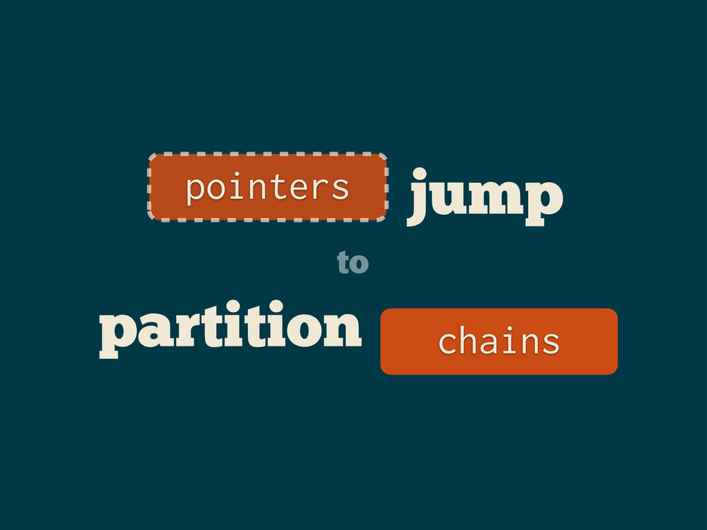 jump to partition _ pointers chains