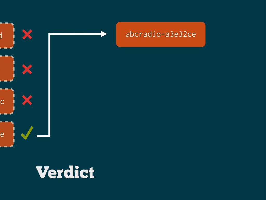 d e ec ce abcradio-a3e32ce Verdict