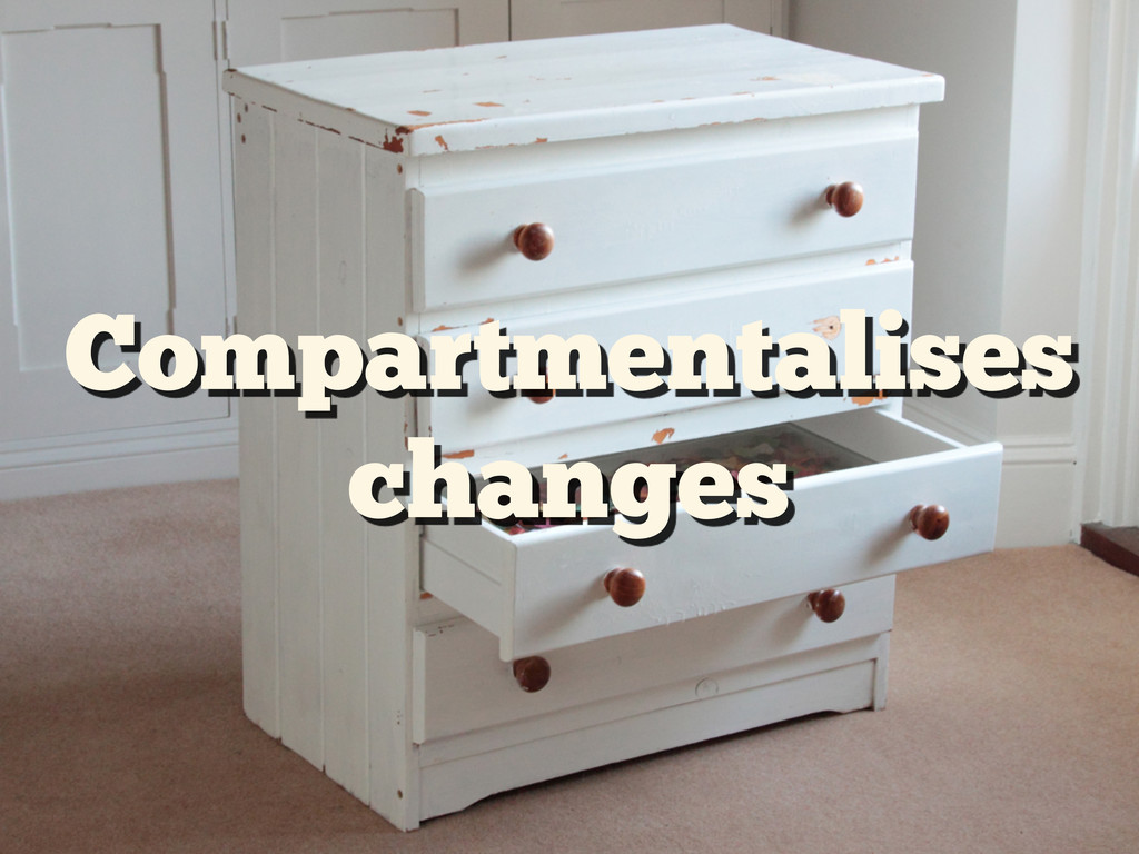 Compartmentalises changes