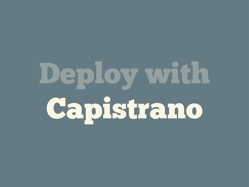 Deploy with Capistrano