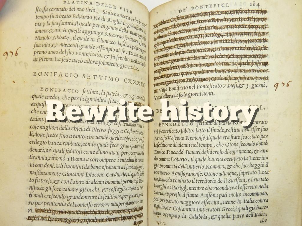 Rewrite history